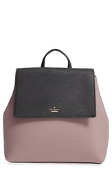 Kate Spade New York 'Cameron Street Neema' Leather Backpack Grey Porcini Black