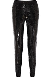 Michael Michael Kors Sequined Jersey Track Pants Black