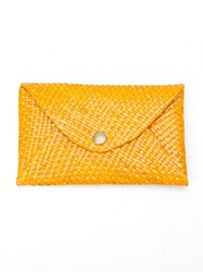 Serpui Straw Wallet Yellow And Orange