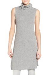 Women's Cotton Emporium Sleeveless Sweater Dress Grey