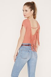 Forever 21 Fringed Back Tee