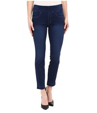 Miraclebody Jeans Andie 28 Ankle Pull On Jeans In Trinidad Blue Trinidad Blue Women's Jeans