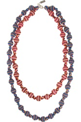 Missoni V And A Double Strand Woven Necklace Blue