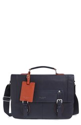 Men's Ted Baker London 'Miamore' Leather Briefcase Blue Navy