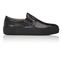 Barneys New York Men's Slip On Sneakers Grey