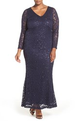 Marina Plus Size Women's Stretch Lace Gown