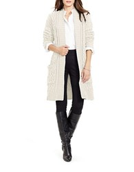 Lauren Ralph Lauren Cable Knit Open Front Cardigan