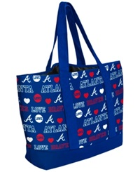 Forever Collectibles Atlanta Braves Tote Bag Navy