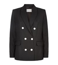 Sandro Valeska Double Breasted Blazer Female Dark Grey
