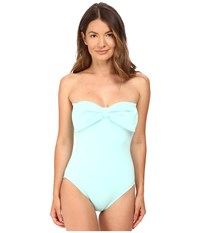 Kate Spade Bandeau Maillot Caribbean Sky Women's Swimsuits One Piece Blue