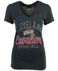 5Th And Ocean Women's Cleveland Cavaliers Double Dribble T Shirt Navy