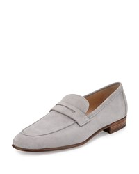 Gravati Suede Penny Loafer Gray Men's