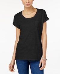 Styleandco. Style Co. Pocket T Shirt Only At Macy's Deep Black