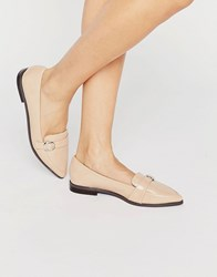 Miss Kg Neeve Buckle Strap Point Flat Shoes Nude Beige