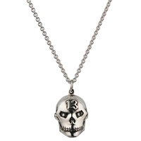 Sheeva 13 Skull Necklace In Silver With Diamonds