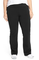 Plus Size Women's Eileen Fisher Stretch Jersey Yoga Pants Black