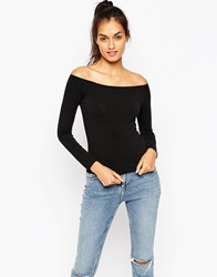 Asos Top With Bardot Neckline With Short Sleeve And Long Sleeve 2 Pack Save 17 Blackblack