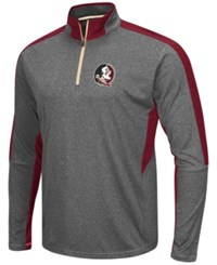 Colosseum Men's Florida State Seminoles Atlas Quarter Zip Pullover Charcoal Maroon