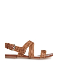 Chocolate Schubar Aditi Tan Flat Sandals