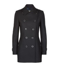 Burberry Brit Needlethorpe Wool Cashmere Pea Coat Female Navy