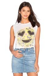 Lauren Moshi Riley Happy Daze Tank White