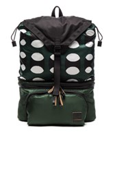 Marni Convertible Printed Nylon Backpack In Green Abstract Green Abstract