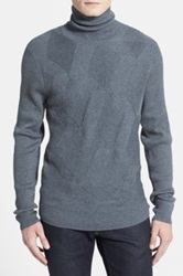 Calibrate Trim Fit Turtleneck Sweater Gray