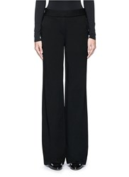 Theory 'Talbert' Ponte Knit Wide Leg Pants Black