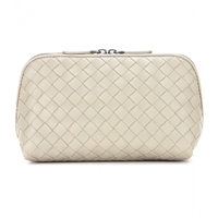 Bottega Veneta Intrecciato Leather Cosmetic Case New Sand