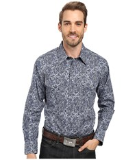 Rock And Roll Cowboy Long Sleeve Snap B2s8422 Grey Men's Clothing Gray