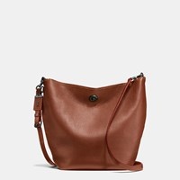 Coach Duffle Shoulder Bag In Glovetanned Pebble Leather Brown