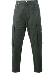 Helmut Lang Cargo Trousers Green
