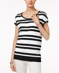 Tommy Hilfiger Nina Striped Top Only At Macy's Bright White