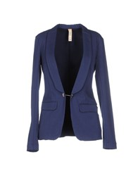 Met Suits And Jackets Blazers Women Dark Blue