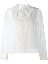See By Chloe Embroidered Overlay Blouse White