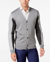 Ryan Seacrest Distinction Men's Colorblocked Cardigan Only At Macy's Flannel Heather