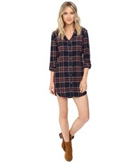 Billabong Winters Tale Shirtdress Peacoat Women's Dress Blue