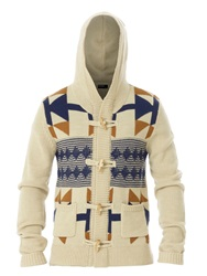 Red Soul Duffle Coat With Symetrical Details Beige