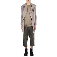 Rick Owens Men's Compact Knit Hooded Cardigan Light Grey White Light Grey White