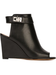 Givenchy 'Shark Tooth' Wedge Mules Black