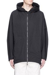 Attachment Tech Nylon Hood Windbreaker Coat Black