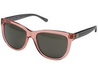 Tory Burch 0Ty7091 Crystal Poppy Charcoal Smoke Solid Fashion Sunglasses Pink