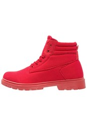 Your Turn Laceup Boots Red
