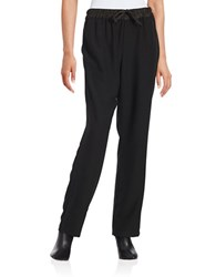 Imnyc Isaac Mizrahi Drawstring Dress Pants Black