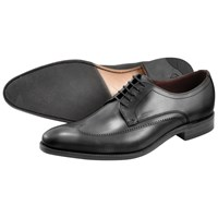 Loake Victor Leather Derby Shoes Black