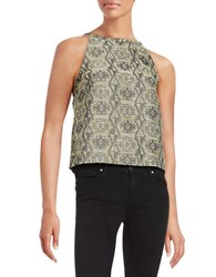 Kensie Tribal Halter Tank Dusty Olive