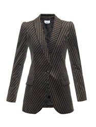 Sonia Rykiel Diamond Velvet Single Breasted Blazer