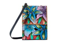 Anuschka 412 Luscious Lilies Denim Cross Body Handbags Multi
