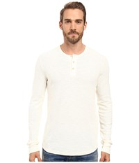 Lucky Brand Thermal Henley Marshmallow Men's Clothing Blue