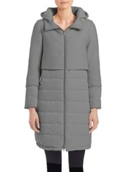 Herno Hooded Down Puffer Coat Grey